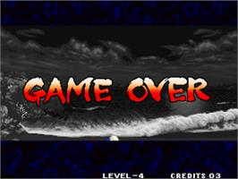 Game Over Screen for Samurai Shodown IV - Amakusa's Revenge / Samurai Spirits - Amakusa Kourin.