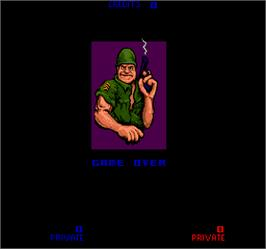 Game Over Screen for Sarge.