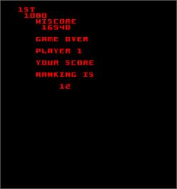 Game Over Screen for Satan's Hollow.