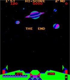 Game Over Screen for Satan of Saturn.
