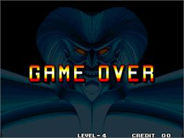Game Over Screen for Savage Reign / Fu'un Mokushiroku - kakutou sousei.
