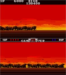Game Over Screen for Scooter Shooter.
