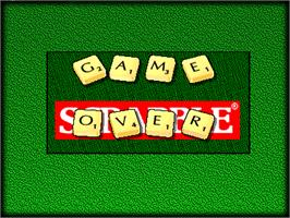 Game Over Screen for Scrabble.