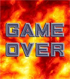 Game Over Screen for Scud Hammer.
