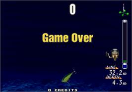 Game Over Screen for Sea Bass Fishing.