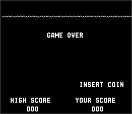 Game Over Screen for Sea Wolf.