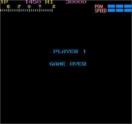 Game Over Screen for Section Z.
