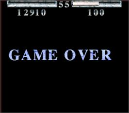 Game Over Screen for Shadow Fighters.