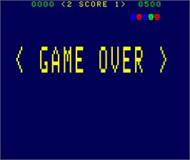 Game Over Screen for Shark Attack.