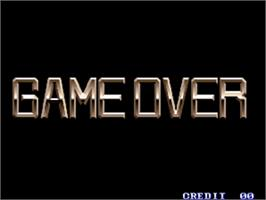 Game Over Screen for Shock Troopers.