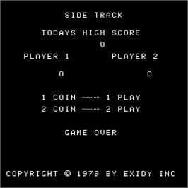 Game Over Screen for Side Track.