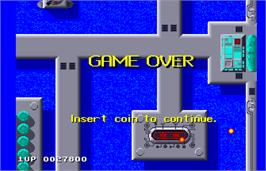 Game Over Screen for Sidewinder.
