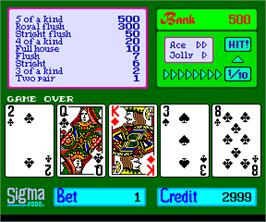 Game Over Screen for Sigma Poker 2000.