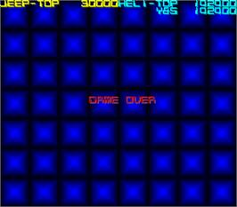 Game Over Screen for Silk Worm.