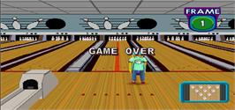 Game Over Screen for Simpsons Bowling.