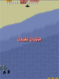 Game Over Screen for Sky Shark.