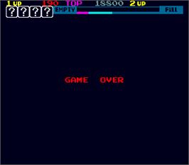 Game Over Screen for Sky Skipper.