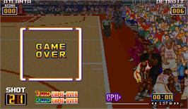 Game Over Screen for Slam Dunk.