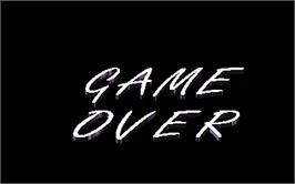 Game Over Screen for Snow Board Championship.