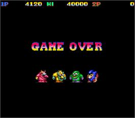 Game Over Screen for Snow Bros. - Nick & Tom.