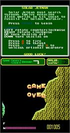 Game Over Screen for Solar Jetman.