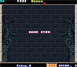 Game Over Screen for Solomon's Key.