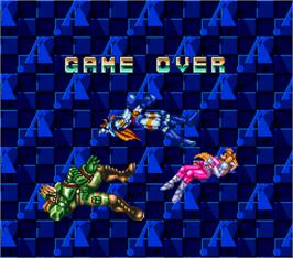 Game Over Screen for Sonic Blast Man 2 Special Turbo.