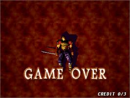 Game Over Screen for Soul Edge Ver. II.