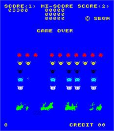 Game Over Screen for Space Attack.
