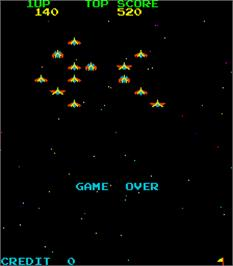 Game Over Screen for Space Battle.