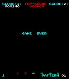 Game Over Screen for Space Beam.