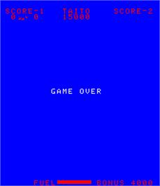 Game Over Screen for Space Chaser.