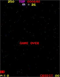 Game Over Screen for Space Firebird.