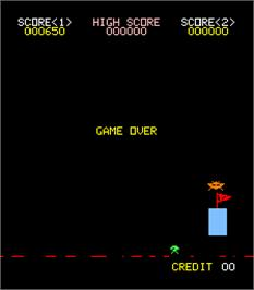 Game Over Screen for Space Guerrilla.