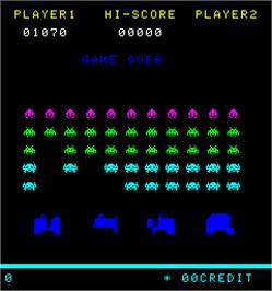 Game Over Screen for Space Intruder.
