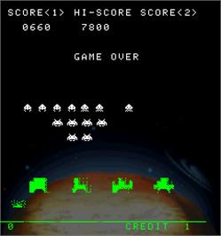 Game Over Screen for Space Invaders Anniversary.