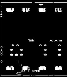 Game Over Screen for Space Invaders II.