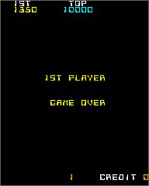 Game Over Screen for Space Raider.