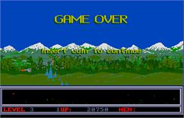 Game Over Screen for Space Ranger.