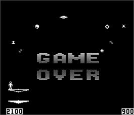Game Over Screen for Space Walk.