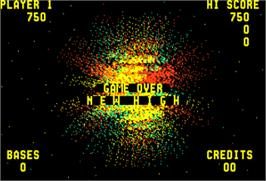 Game Over Screen for Space Zap.
