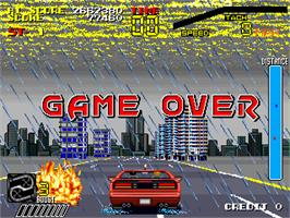 Game Over Screen for Special Criminal Investigation.