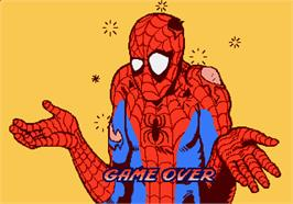 Game Over Screen for Spider-Man: The Videogame.