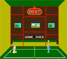 Game Over Screen for Squash.