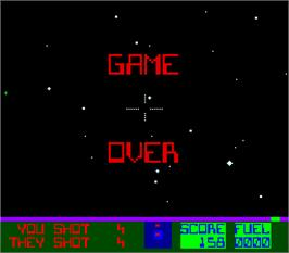 Game Over Screen for Star Fire.