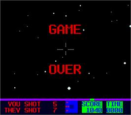Game Over Screen for Star Fire 2.
