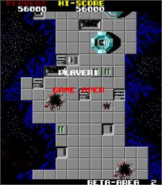 Game Over Screen for Star Force.