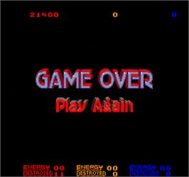 Game Over Screen for Star Guards.