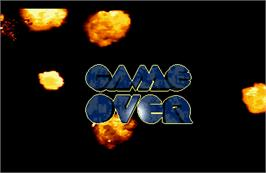 Game Over Screen for Steel Force.