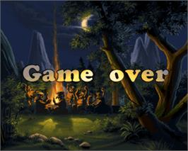 Game Over Screen for Stone Ball.